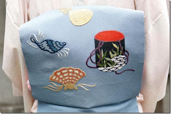 貝の刺繍の帯<後編>