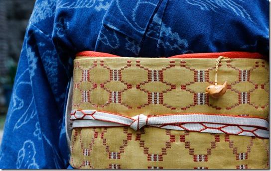 弓浜絣と花織の帯