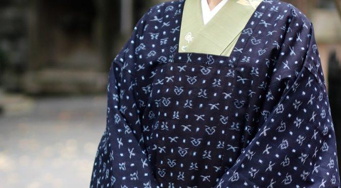 久留米絣のコート