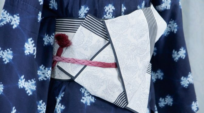 【画像解説】浴衣の帯結び・その1「矢の字」