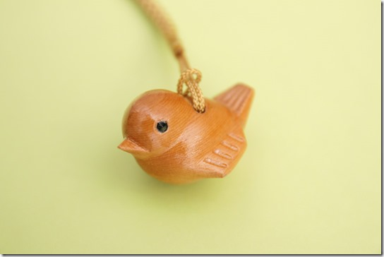 小鳥(すずめ)の根付け