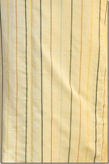 黄色地の縞の紬
