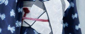 【画像解説】浴衣の帯結び(1):「矢の字」の特徴と結び方