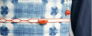 帯留と紐、使い方、合わせ方の工夫